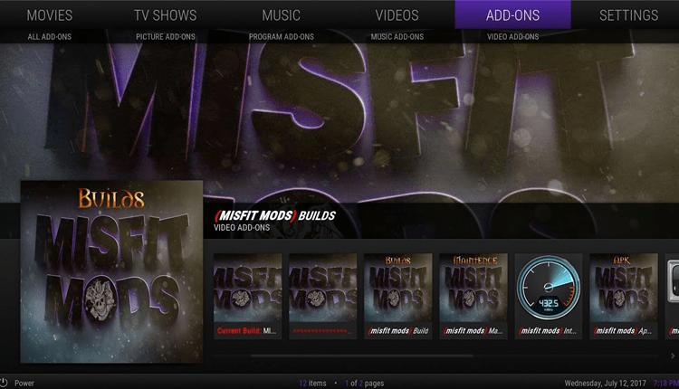 best kodi build for firestick: Misfit