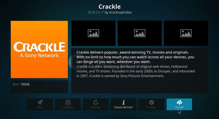 Crackle Kodi add-on
