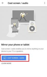 Cast Screen / Audio