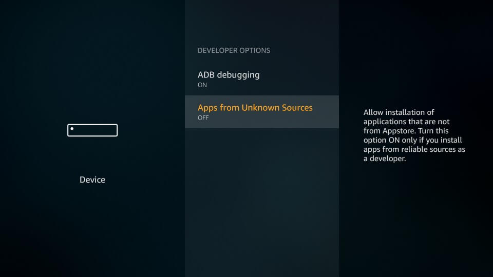 enable Apps from Unknown Sources