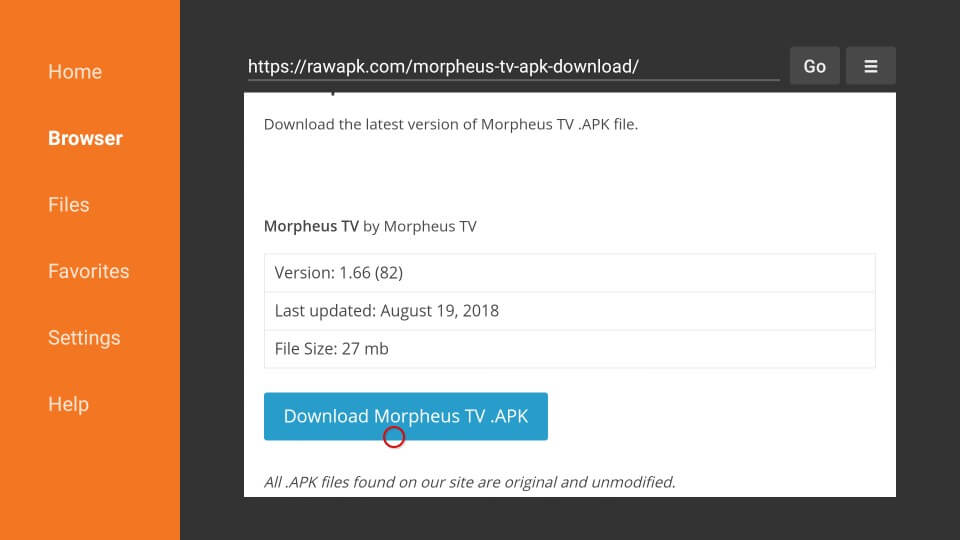 Morpheus TV on Firestick
