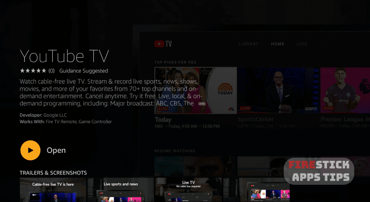 YouTube TV on Firestick