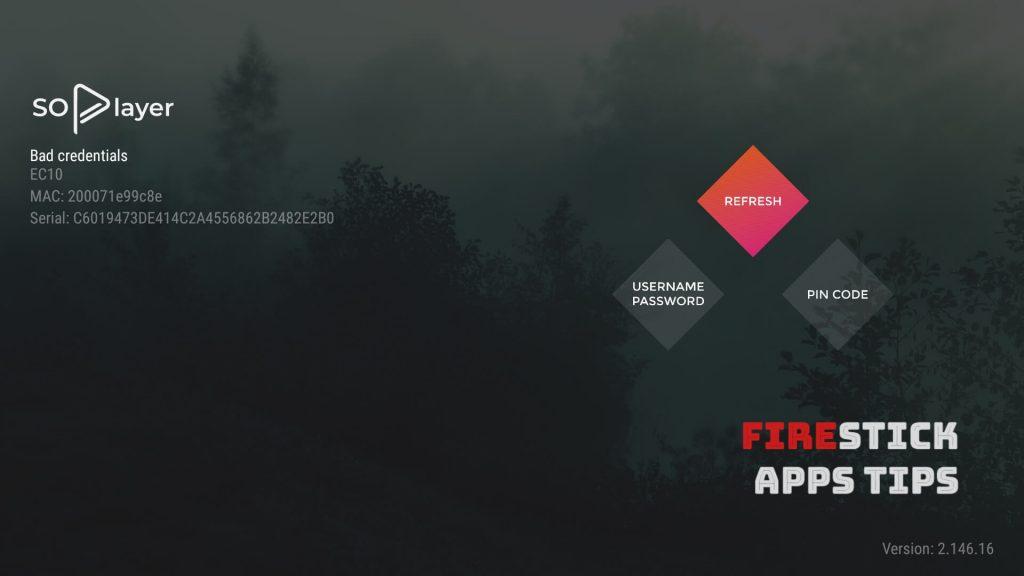 So Player App on Firestick