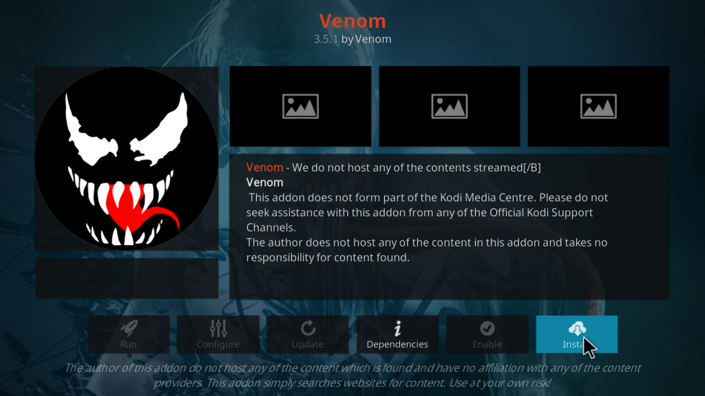 Venom addon on Firestick