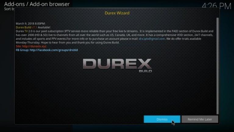 Durex Kodi Build