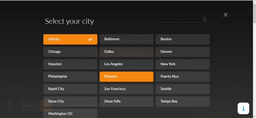 Select your city