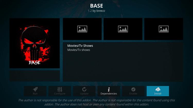 Install Base Kodi Addon