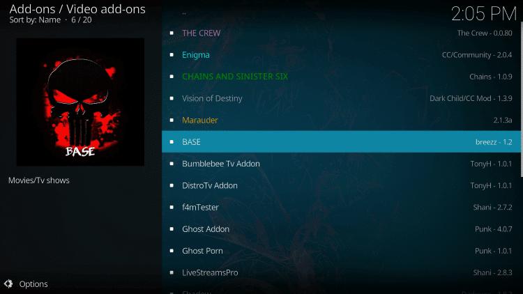 Base Kodi Addon on Firestick