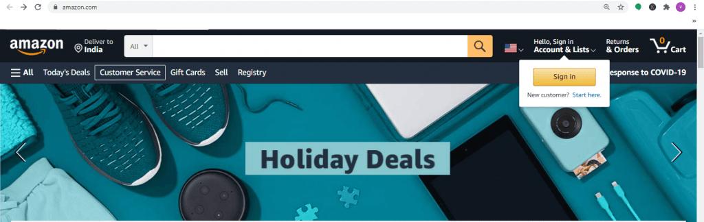 Amazon official website