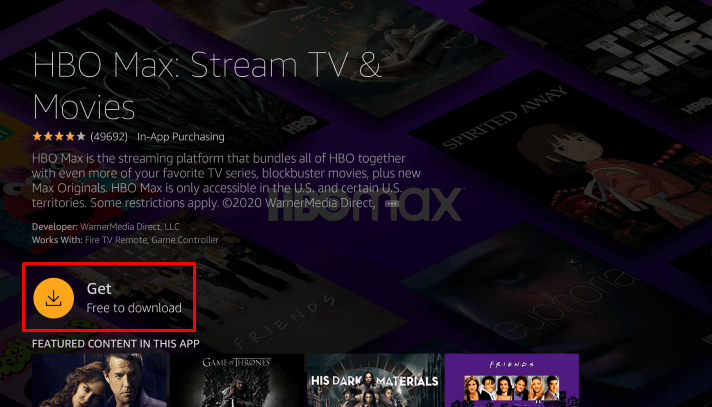 Get HBO Max on Firestick
