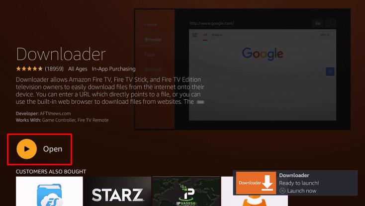Open Downloader on Firestick