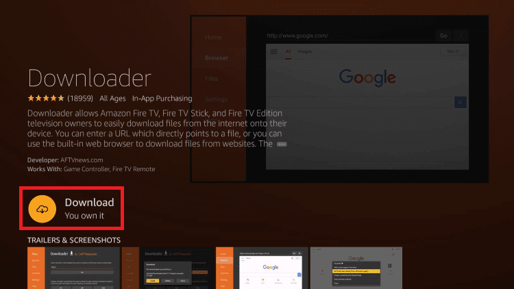 Click download - HOW TO INSTALL THUNDER VPN ON FIRESTICK