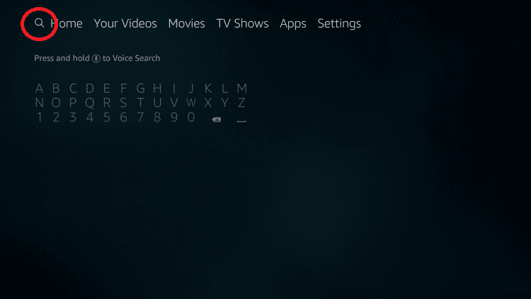 search icon - HOW TO INSTALL THUNDER VPN ON FIRESTICK