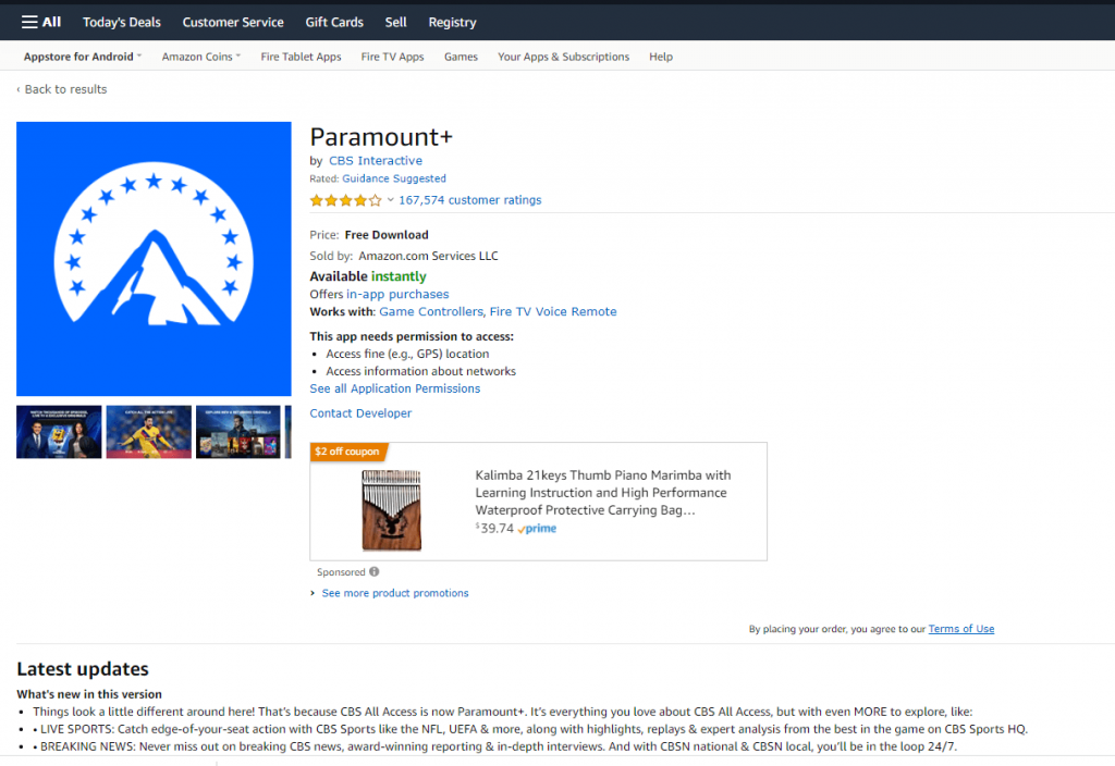 Paramount Plus on Firestick
