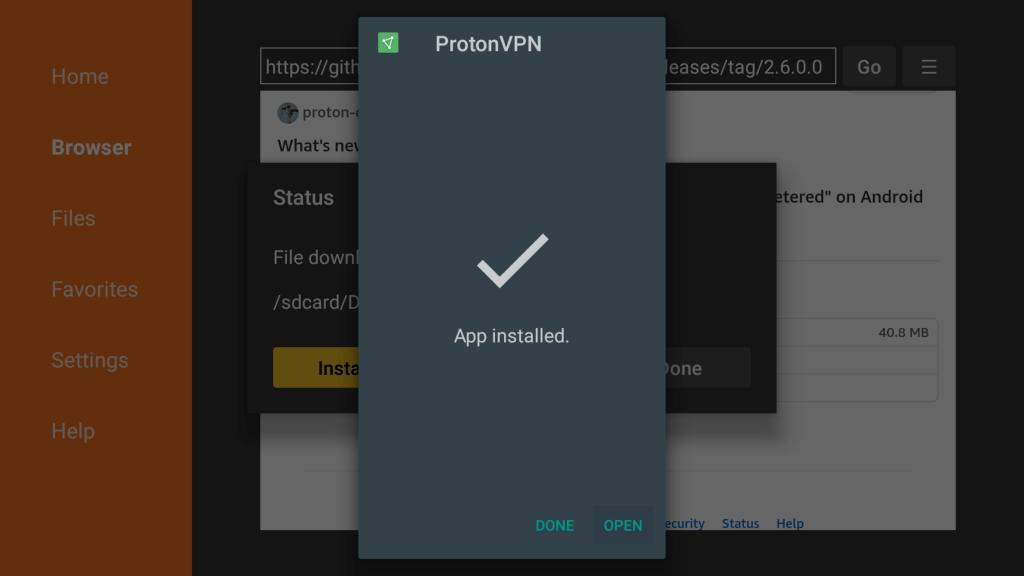 ProtonVPN for Firestick