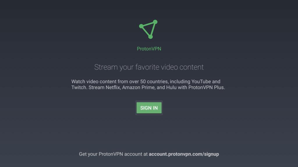 ProtonVPN app