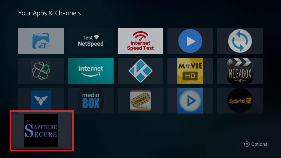 Sapphire Secure IPTV Firestick