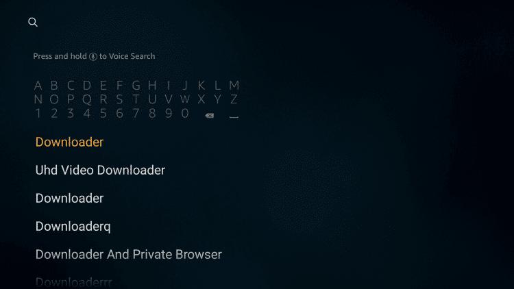 Search Downloader app