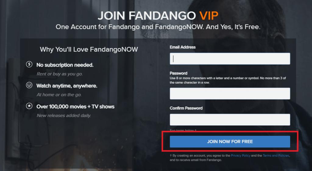 FandangoNOW on Firestick
