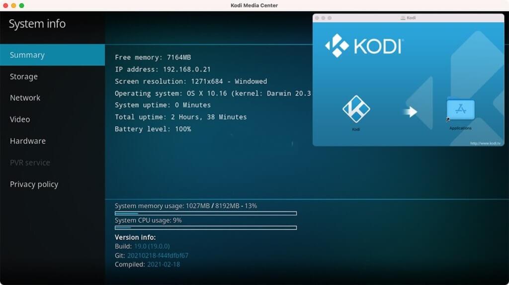 Downgrade Kodi 19 to Kodi 18