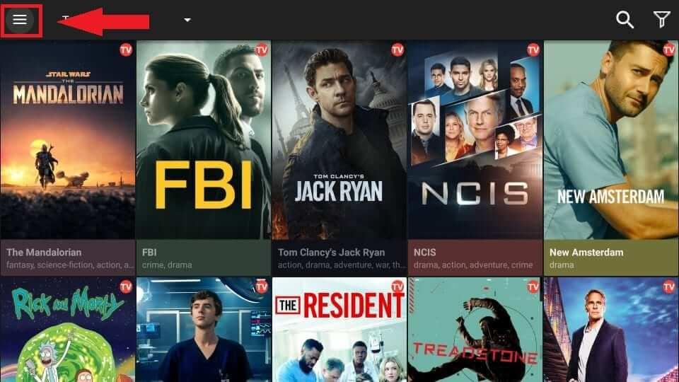 click menu icon - Real Debrid on Firestick / Kodi