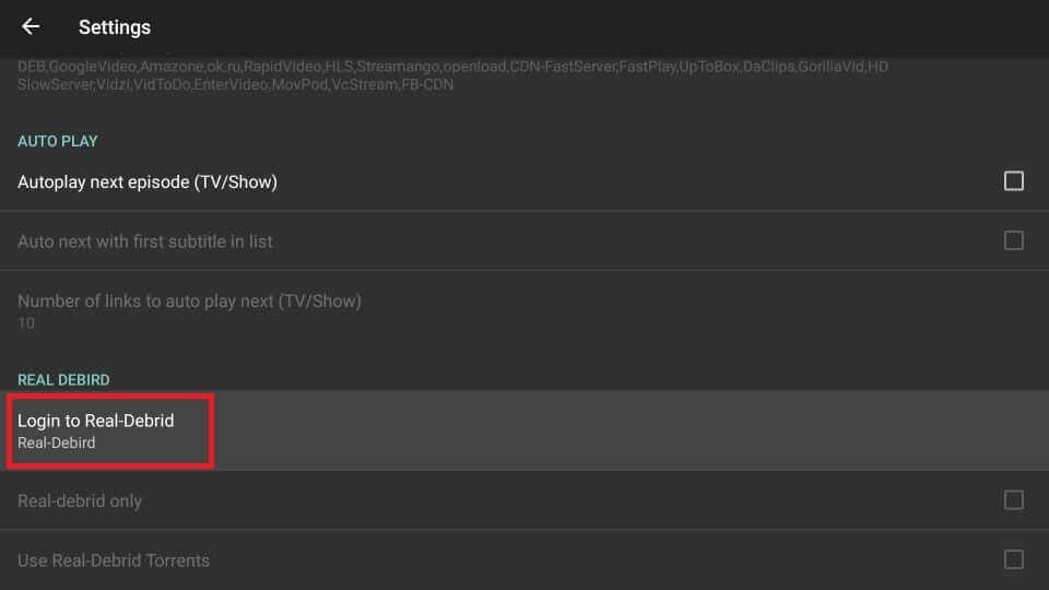 select login to real-debrid